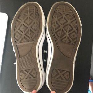 Converse Shoes - Dark gray low top converse size 8 women's